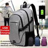 15.6 Inch outdoor Backpack Smart USB Charging Shoulder Bag Oxford Cloth Traveling Backpack Laptop Backpack School Bag Rucksack C