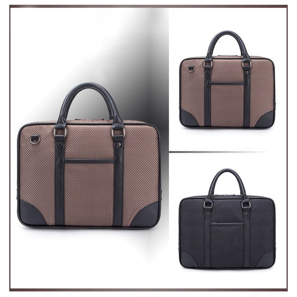 Cool Oxford Fabric 13-Inch Laptop and Tablet Briefcase Messenger Bag with Leather Handle
