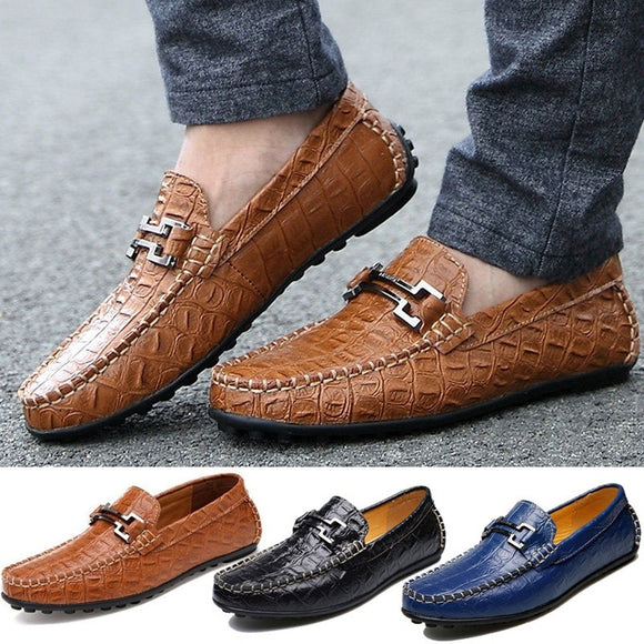 men loafers Low hit men help crocodile business leather shoes, leisure fashion men's shoes of England 38-47