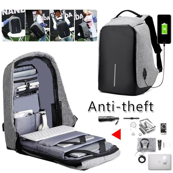 Multi-Function High-Capacity Anti-Theft Computer Package USB Charge Travel Backpack Men'S Fashion Trend Anti-Lost Shoulder B