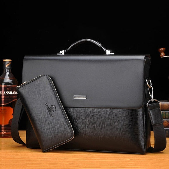 14.96 Inch Men Briefcase Bag Business Bag Leather Laptop Bag Man Bag Handbag