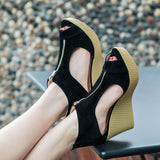2017 New Style Sandals Women Shoes Woman Summer Platform Wedges Vintage High Heels Open Toe with Zippers Sandalias Zapatos Mujer