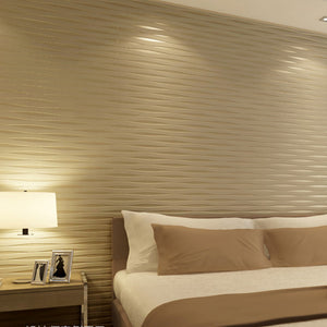 Striped 3D Wallpaper For Living Room