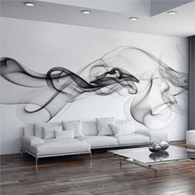 Custom Wall Mural Wallpaper Modern Smoke Clouds Abstract Art