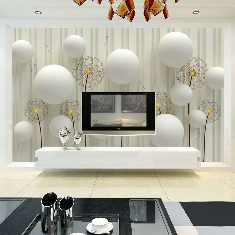 Custom 3D Photo Wallpaper Modern Fashion Simple And Soft Dandelion