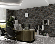 Brick Stone Wallpaper 3D PVC Grey Vinyl