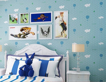 3D Mural Blue Sky Balloons Embossed Wallpaper