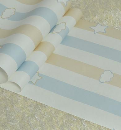 Cartoon Stars Clouds Non-woven Wallpaper