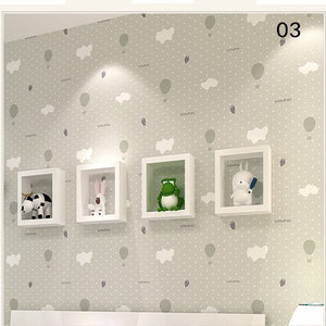 3D Non-Woven Green Parachute Bedroom Pattern Wall Paper