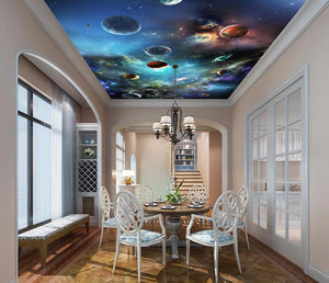Solar system planet ceiling wallpaper for wall