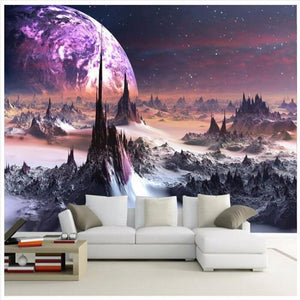 3D Wallpapers Fantasy Cosmic Planet Photos Living Room
