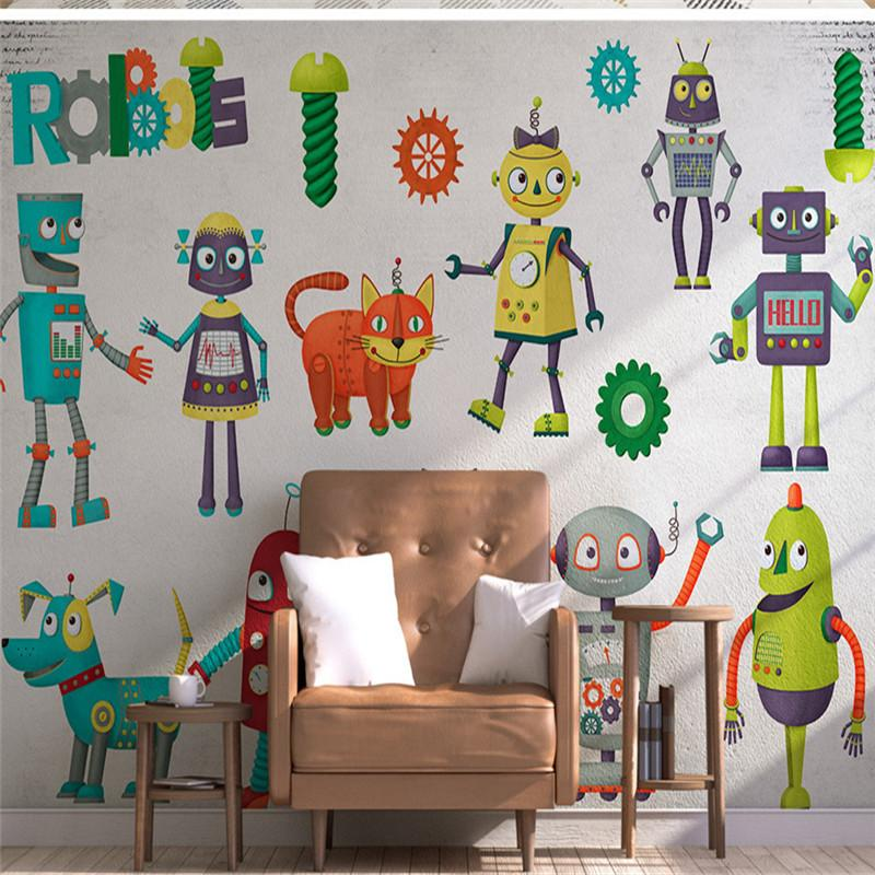3D  Wallpapers Robot Photo for Children Room