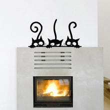 Funny Cat Fridge Stickers  Kitchen  Wall Stickers Home Decor Waterproof Wallpaper