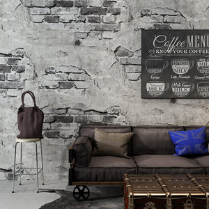 Brick Wall Paper Modern Retro Grey Cement Brick PVC Wallpaper