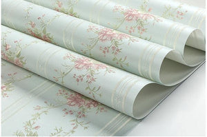 Pastoral Non-woven Embossed Deep Warm 3D Wallpaper