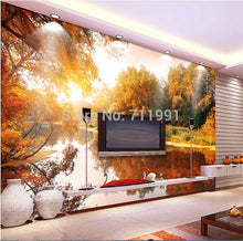 Vinyl Wallpaper Forest In Swan Lake 3D