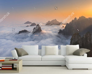 Chinese Landscape Wallpaper, Huangshan, Yellow Mountains, Natural Photo