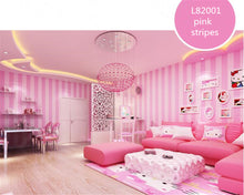 Modern Simple Korean Striped Wallpaper Pink Warm