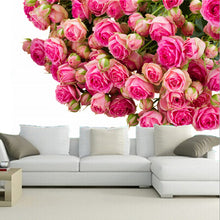 3D Many Pink Color Flowers Wallpaper