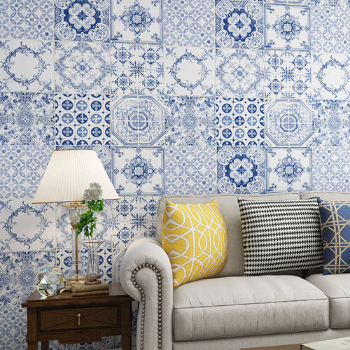 3D Effect Embossed Wallpaper Pattern Non Woven Wallpaper