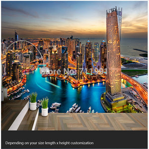 Custom Photo Wallpaper 3D Dubai City