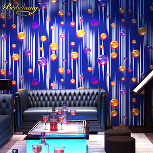 Ball Metal Mural Wallpaper Roll Gold Foil PVC