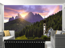 3D Italy Mountain Temples Forests Nature Wallpaper