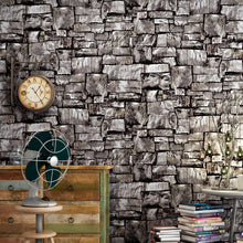 Colomac 3D Non-woven Antique Retro Culture Stone Wallpaper