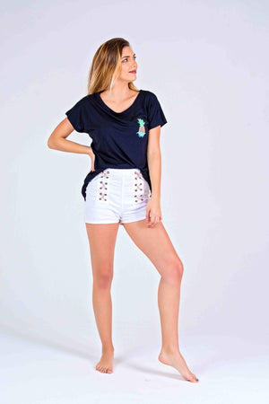 LADIES TEE - PINEAPPLE POCKET