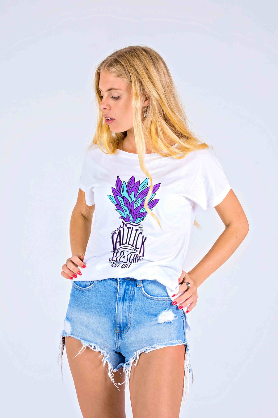LADIES TEE - SALT LICK PURPLE PINEAPPLE