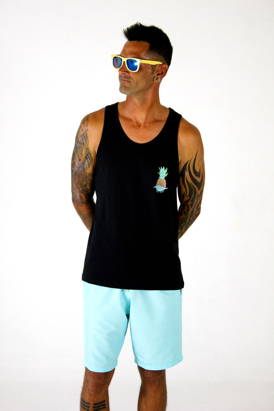 MENS BOUND VESTS - PINEAPPLE POCKET