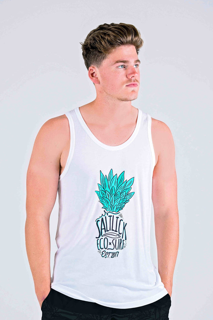 MENS BOUND VESTS - SALT LICK GREEN PINEAPPLE