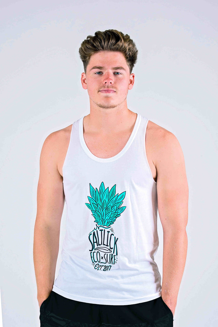 MENS RAW VEST - SALT LICK PINEAPPLE PRINT