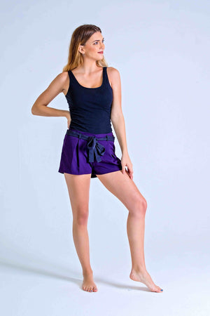 LADIES SHORTS - MIAMI FLARE (PURPLE)