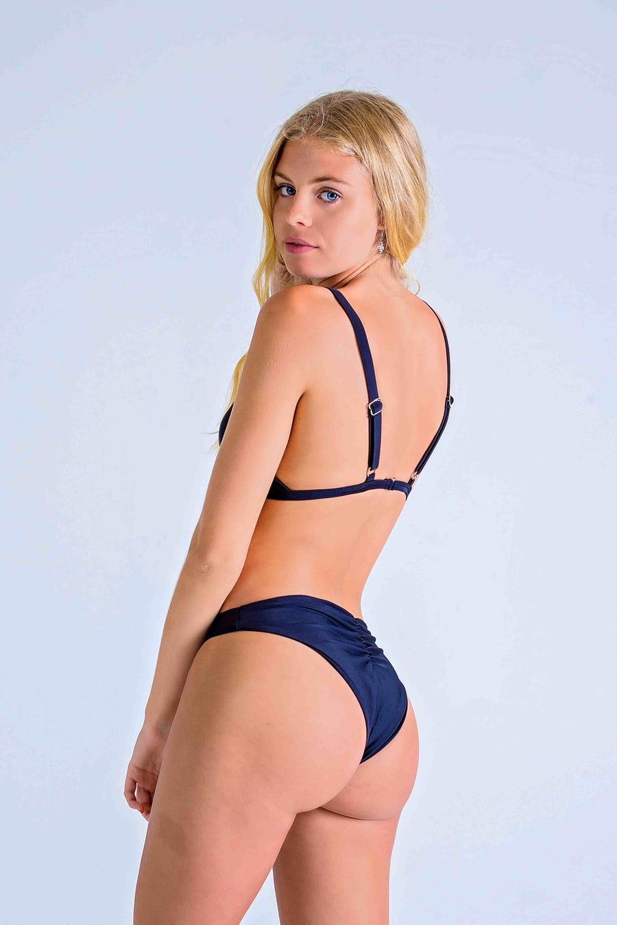 BLACK ST TROPEZ TRIANGLE with SCRUNCH BUM BOTTOMS