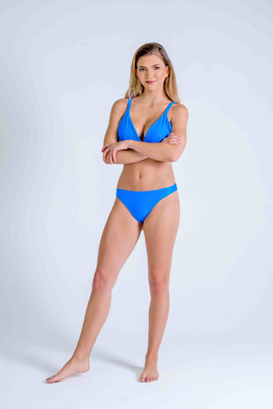 BLUE ST TROPEZ TRIANGLE with SCRUNCH BUM BOTTOMS