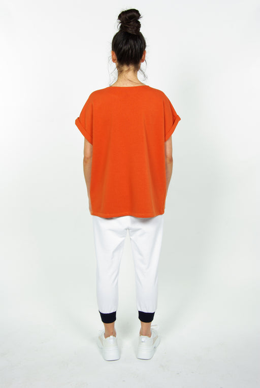 THE SLOUCH S/S SWEATSHIRT | ORANGE