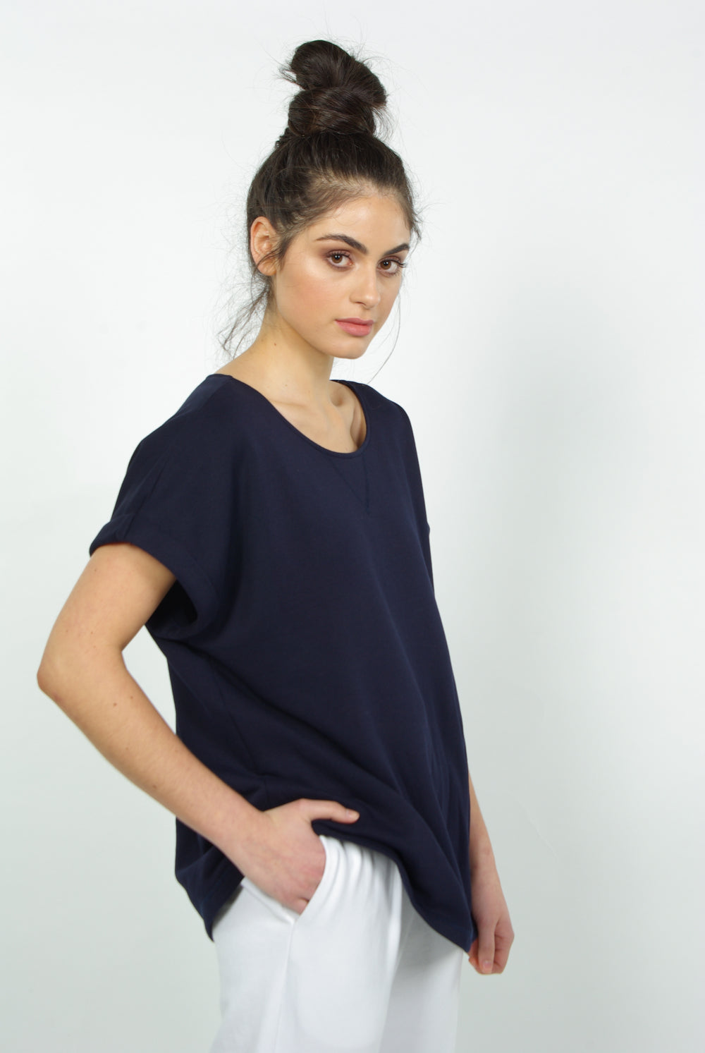 THE SLOUCH S/S SWEATSHIRT | NAVY