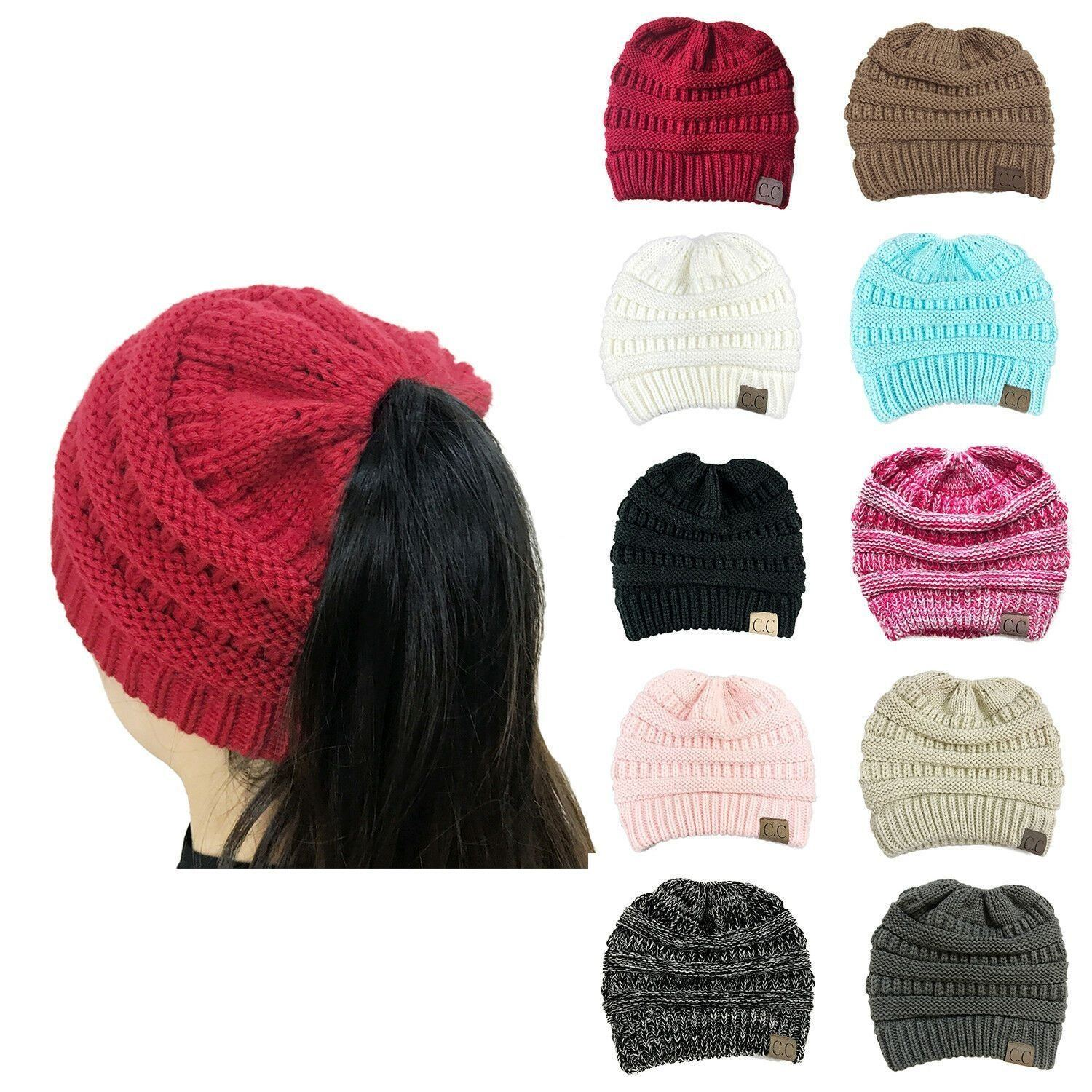e0de1913 Click to enlarge. Home Women Bubble Knit Slouchy Baggy Beanie Oversize  Winter Hat Ski Slouchy Cap Skull ...