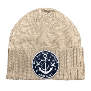 Knit Sailor Cap - Not All Who Wander - Oatmeal