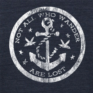 Vintage Jersey Crew T-Shirt - Not All Who Wander Are Lost