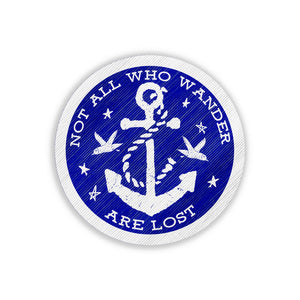 Vintage Embroidered Patch - Not All Who Wander Are Lost