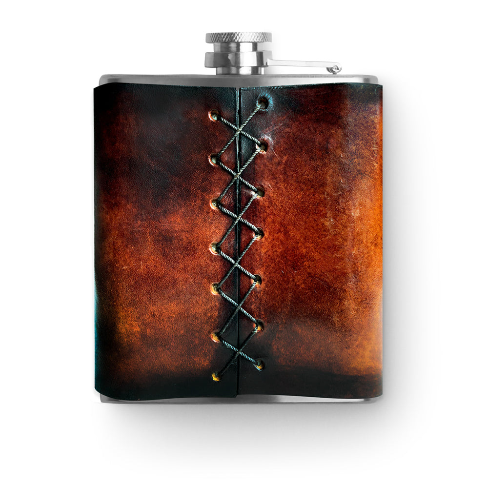 Handmade Leather Flask - 6 oz. - Signature Makers