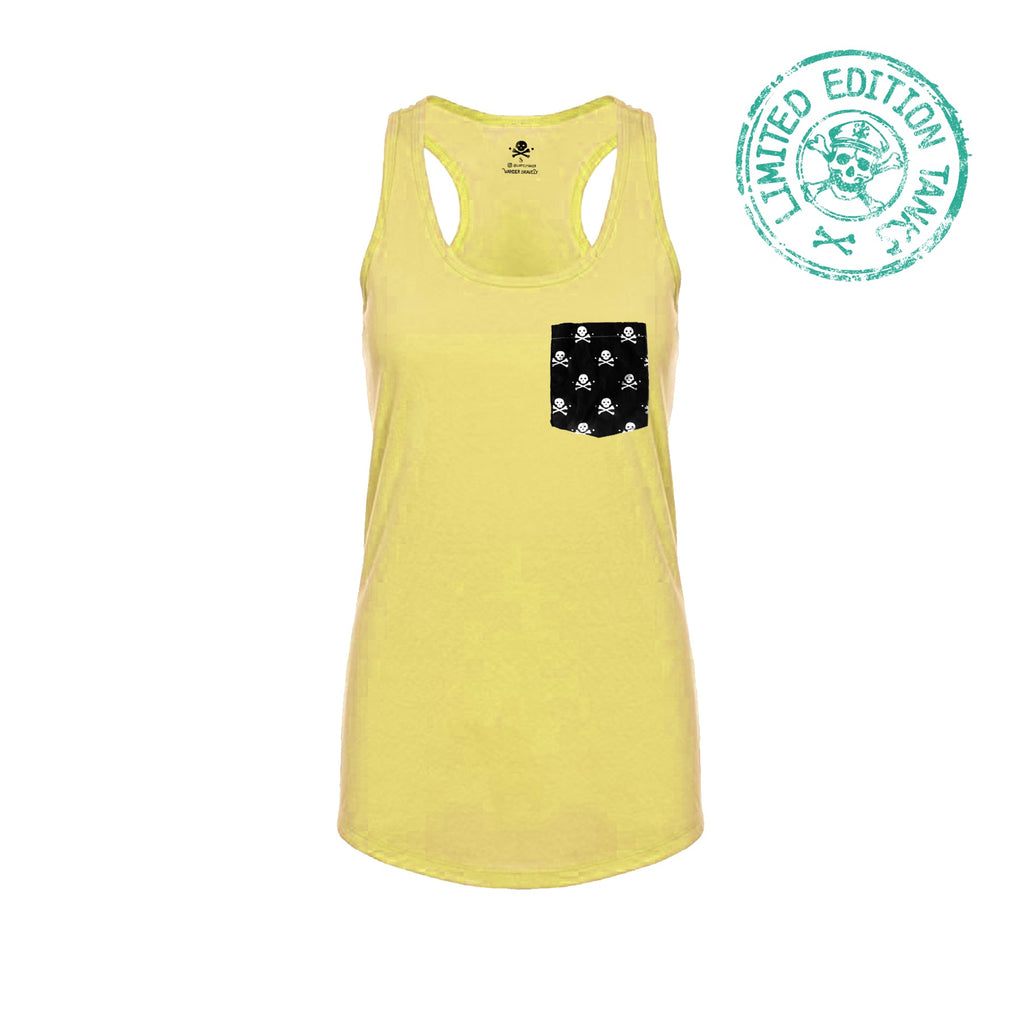 Pockets With Purpose - Lemon Racerback Tank