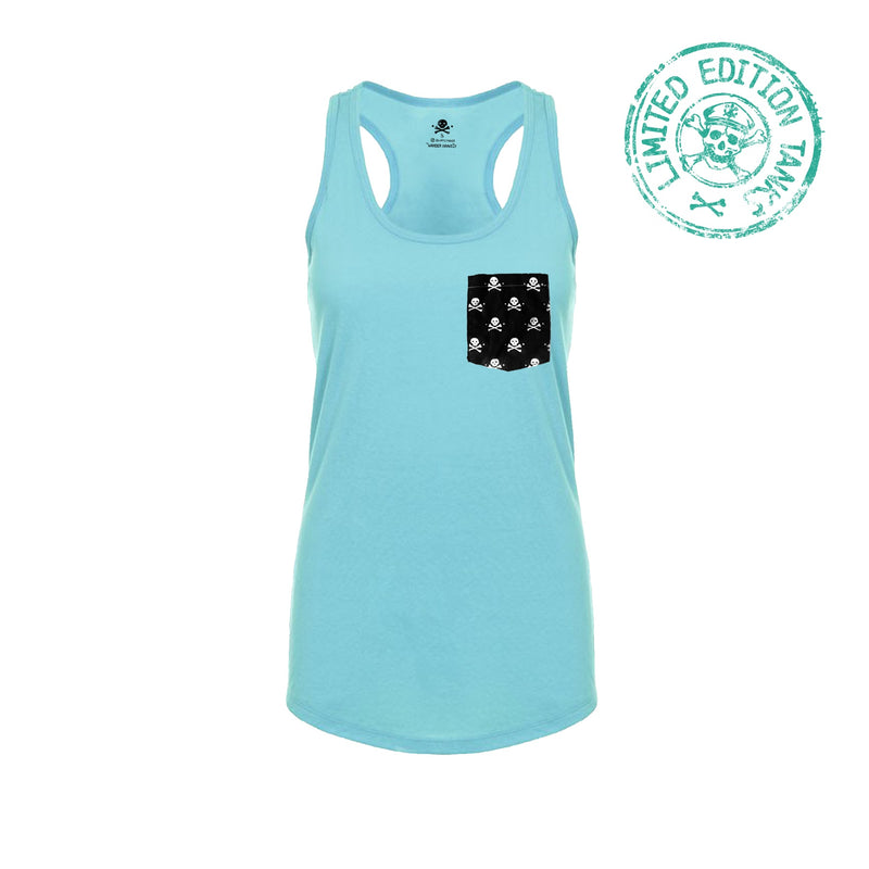 Pockets With Purpose - Tahiti Blue Racerback Tank