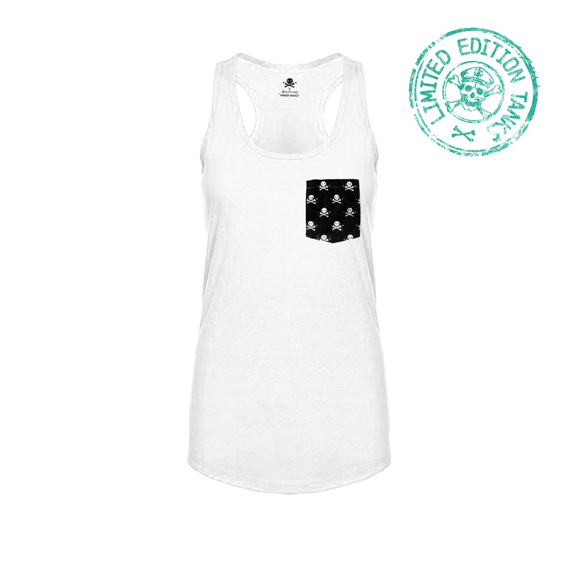 Pockets With Purpose - Coconut White Racerback Tank