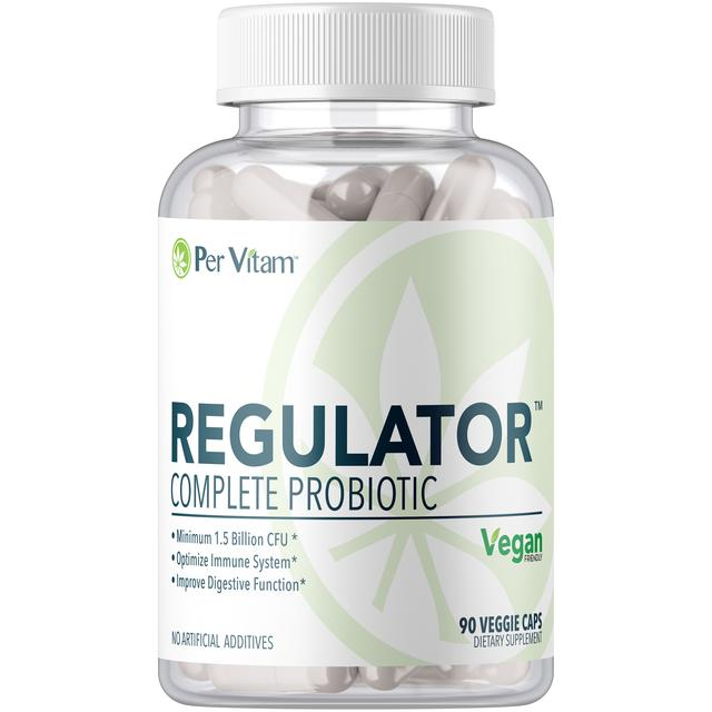 Regulator®Super-Potent Probiotic, Prebiotic, and Digestive Enzymes
