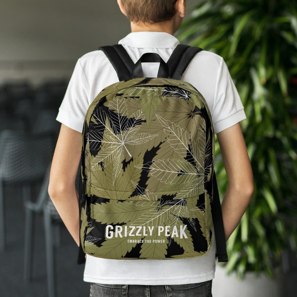 GP Full Flower Black Backpack