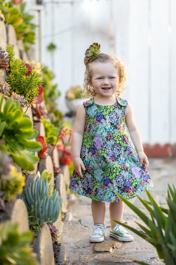 Succulents Reversible Dress