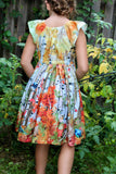 Fall Birds Peasant Dress